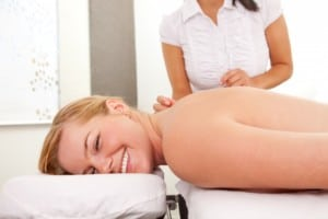 woman receives acupuncture richmond va